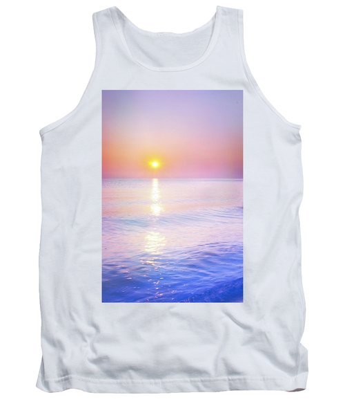 Tank Top featuring the photograph Milky Sunset by Lilia D