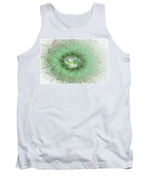 Tank Top featuring the digital art Mint Green by Svetlana Nikolova