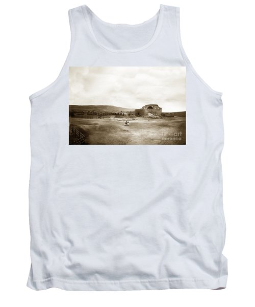 Mission San Juan Capistrano California Circa 1882 By C. E. Watkins Tank Top by California Views Mr Pat Hathaway Archives