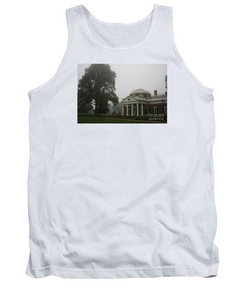 Misty Morning At Monticello Tank Top
