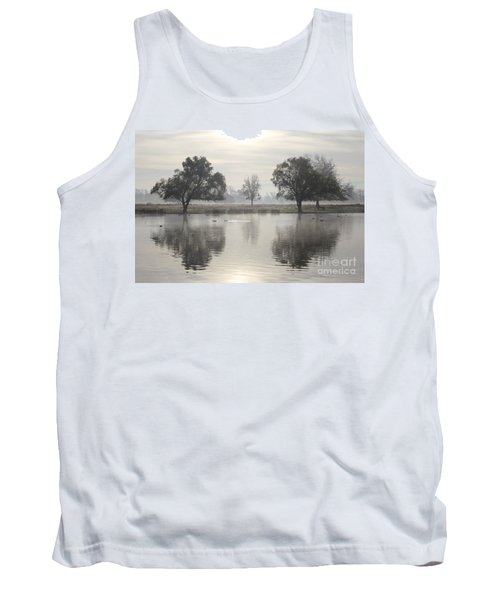 Misty Morning In Bushy Park London 2 Tank Top