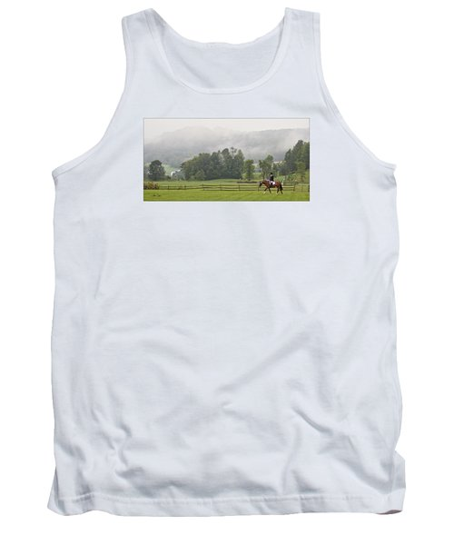 Tank Top featuring the photograph Misty Morning Ride by Joan Davis