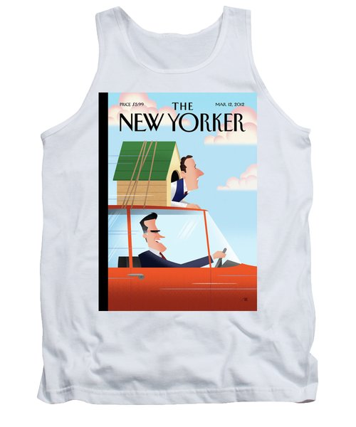 Mitt Romney Driving With Rick Santorum In A Dog Tank Top