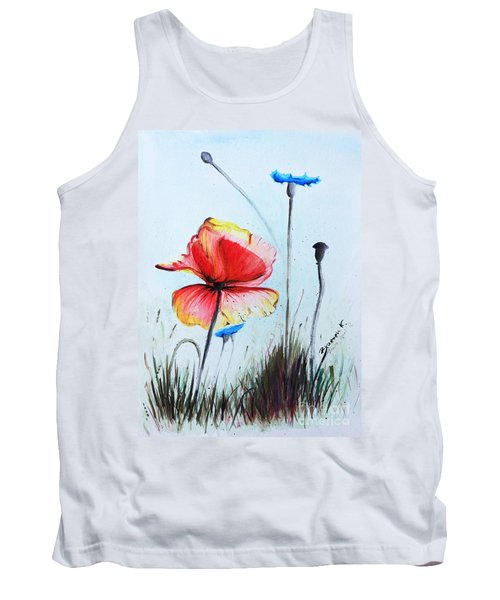 Mohnwiese Tank Top by Katharina Filus