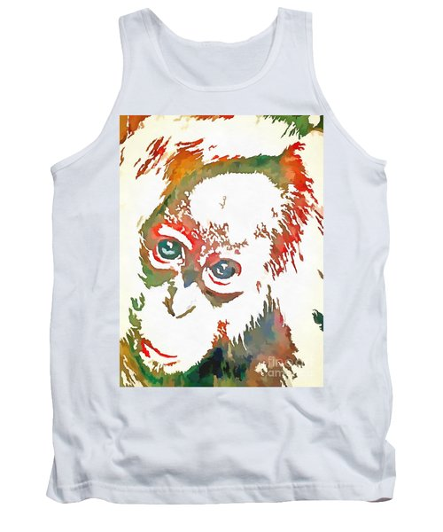 Monkey Pop Art Tank Top