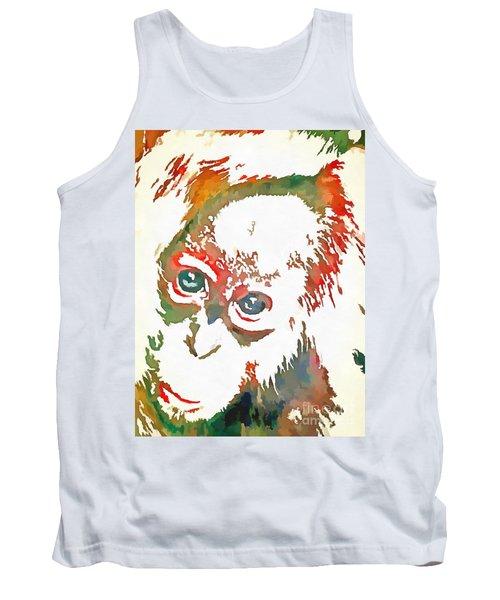 Monkey Pop Art Tank Top