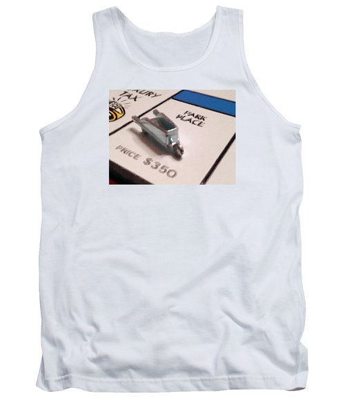 Monopoly Board Custom Painting Park Place Tank Top