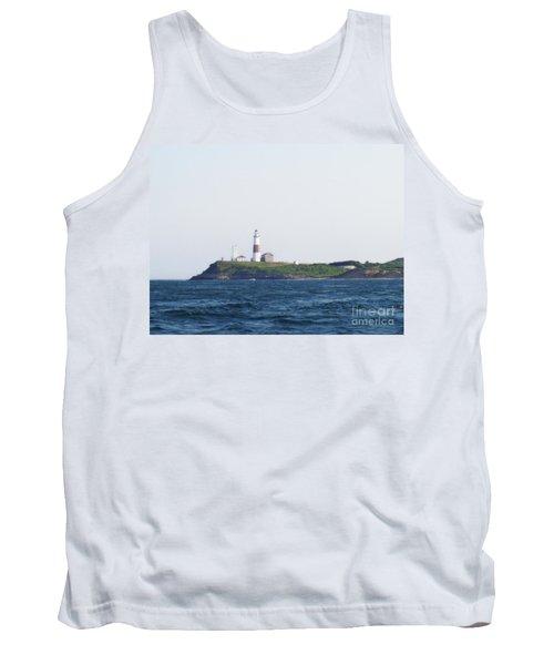 Montauk Lighthouse From The Atlantic Ocean Tank Top by John Telfer