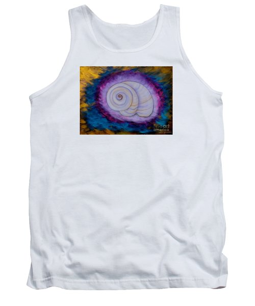 Tank Top featuring the painting Moon Snail by Deborha Kerr