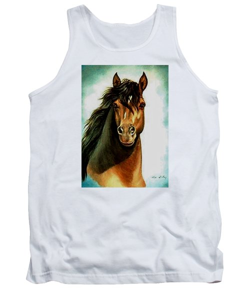 Tank Top featuring the painting Morgan Horse by Loxi Sibley