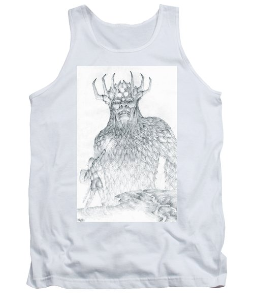Tank Top featuring the drawing Morgoth And Fingolfin by Curtiss Shaffer
