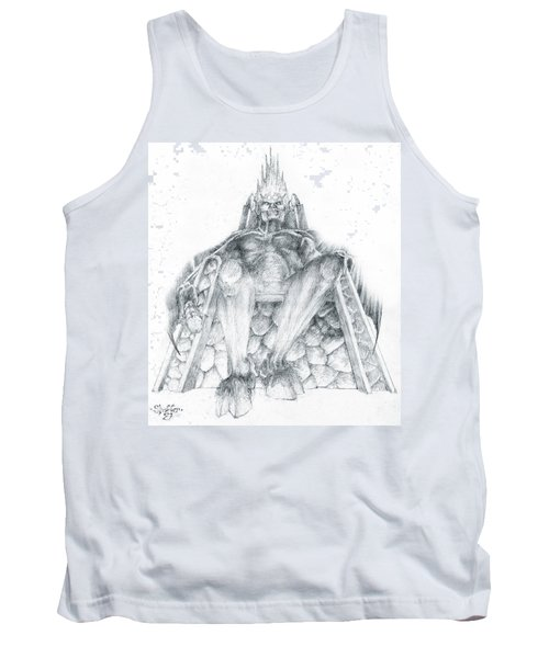 Tank Top featuring the drawing Morgoth Bauglir by Curtiss Shaffer