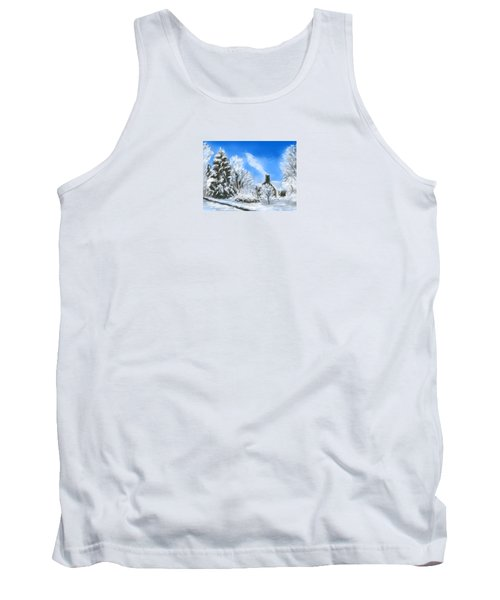 Tank Top featuring the painting Morning After The Snowstorm  by Jean Pacheco Ravinski