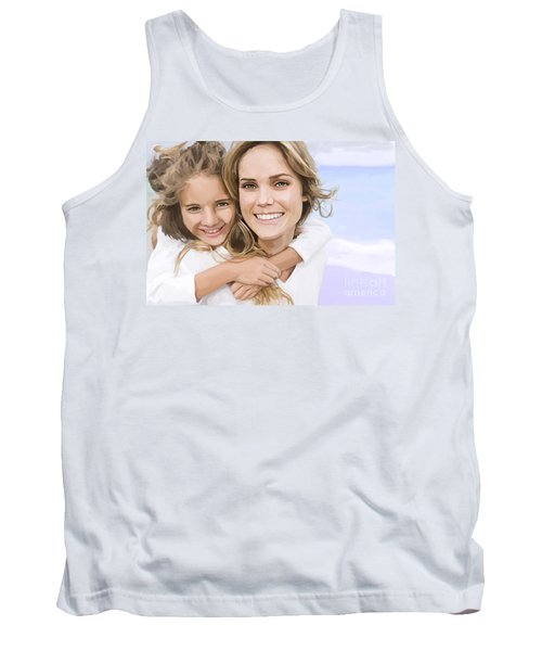 Tank Top featuring the painting Mother Daughter Portrait   by Tim Gilliland