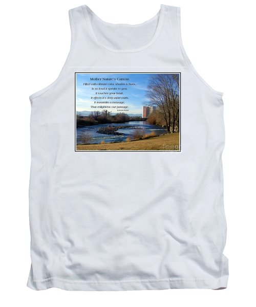 Tank Top featuring the photograph Mother Natures Canvas by Bobbee Rickard