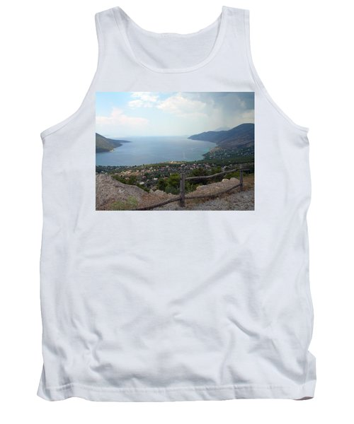Mountain And Sea View In Greece Tank Top