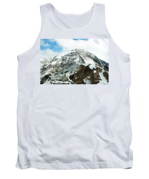 Mountain Covered With Snow Tank Top