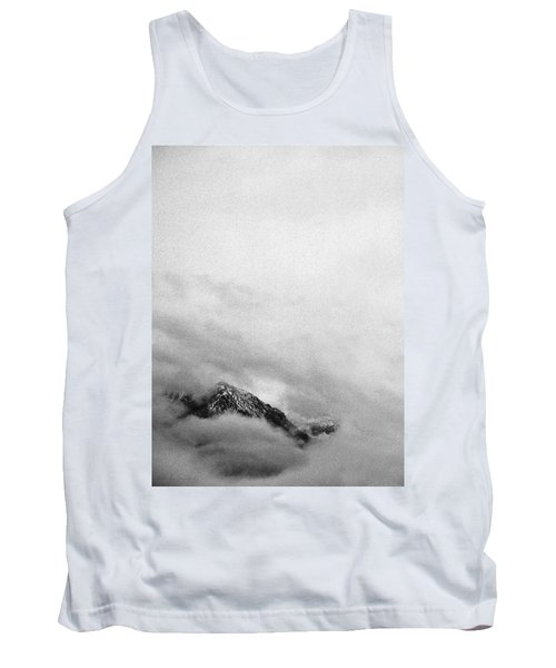 Mountain Peak In Clouds Tank Top