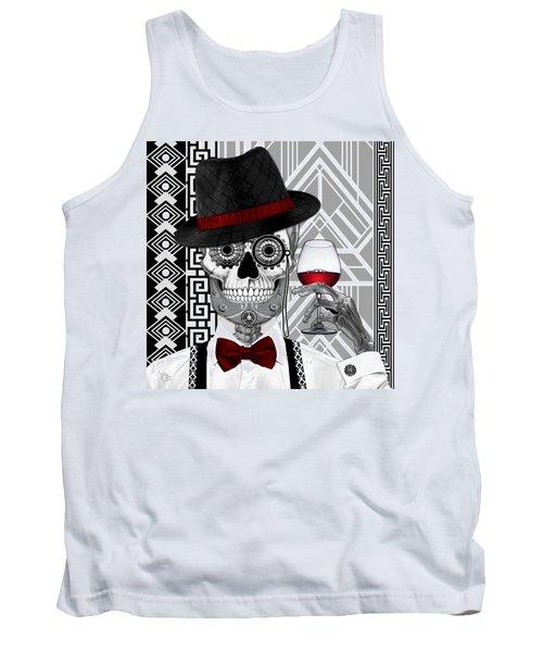 Mr. J.d. Vanderbone - Day Of The Dead 1920's Sugar Skull - Copyrighted Tank Top