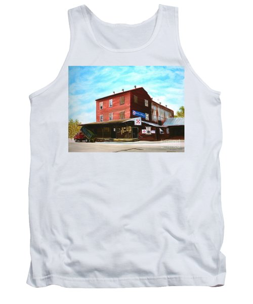 Tank Top featuring the painting Mt. Pleasant Milling Company by Stacy C Bottoms