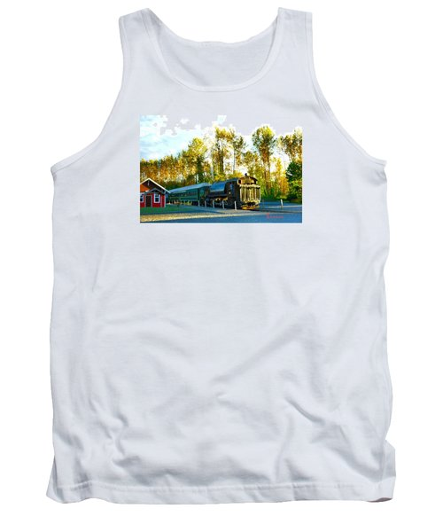 Tank Top featuring the photograph Mt Rainier W A Scenic Railroad by Sadie Reneau