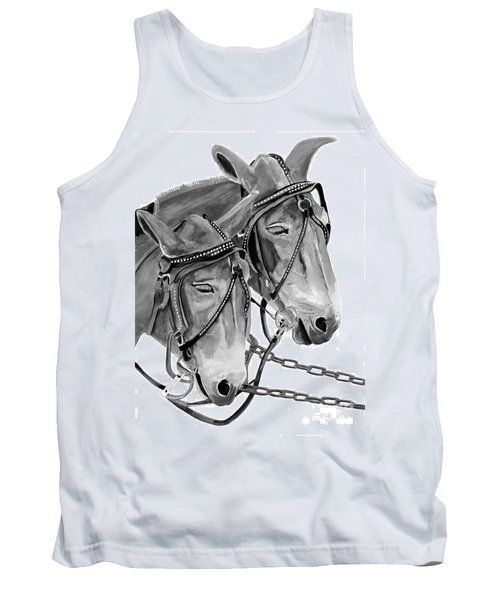 Mules - Beast Of Burden - B And W Tank Top