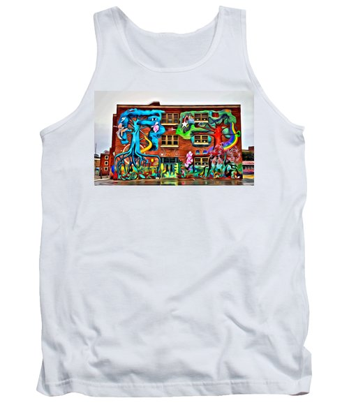 Mural On School Tank Top