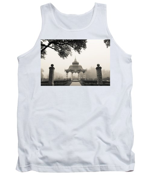 Music Stand In Fog Tank Top