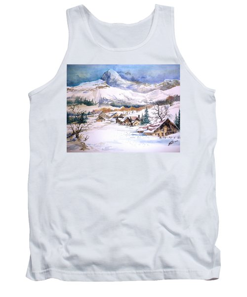 My First Snow Scene Tank Top by Alban Dizdari