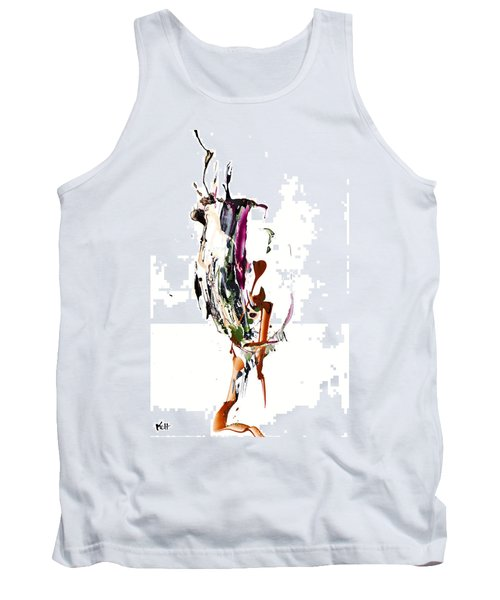 Tank Top featuring the painting My Form Of Jazz Series - 10186.110709 by Kris Haas