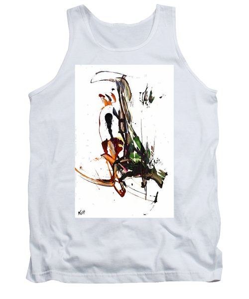 Tank Top featuring the painting My Form Of Jazz Series - 10185.110709 by Kris Haas