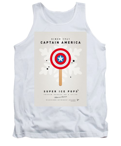 My Superhero Ice Pop - Captain America Tank Top