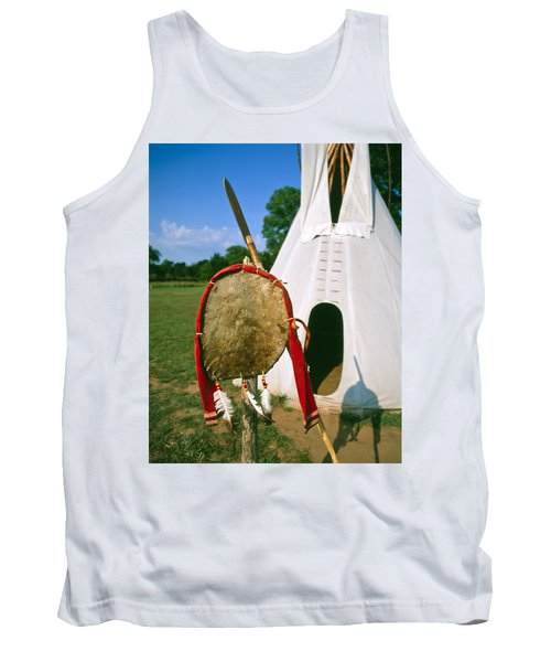 Native American Shield And Spear Tank Top