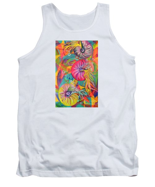 Tank Top featuring the painting Nautilus by Lyn Olsen