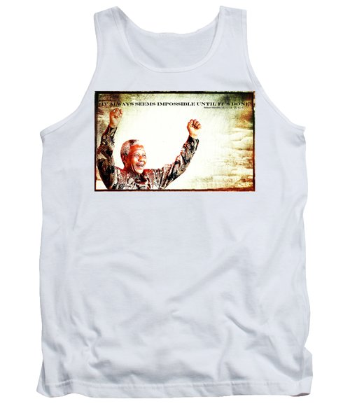 Nelson Mandela Tank Top by Spikey Mouse Photography
