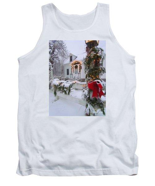 New England Christmas Tank Top by Elizabeth Dow