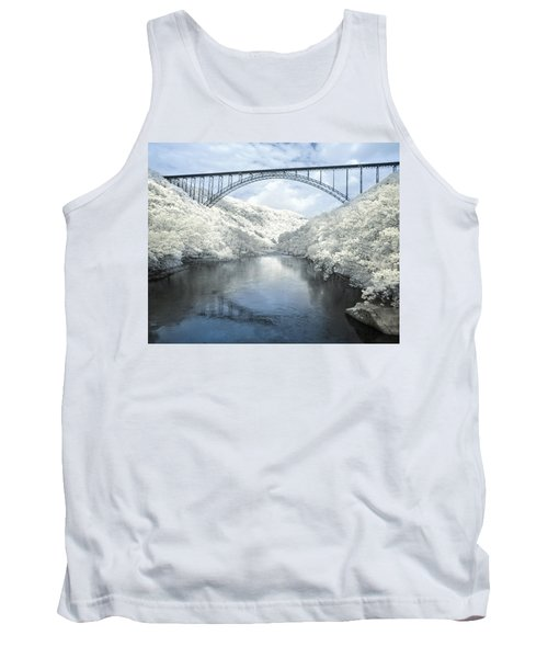 New River Gorge Bridge In Infrared Tank Top