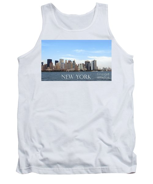 Tank Top featuring the photograph New York As I Saw It In 2008 by Ausra Huntington nee Paulauskaite