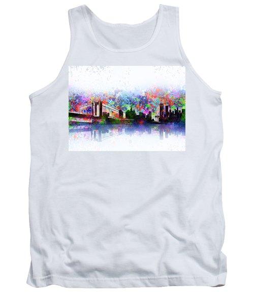 New York Skyline Splats 2 Tank Top