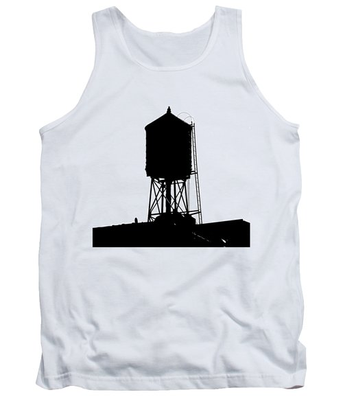 New York Water Tower 17 - Silhouette - Urban Icon Tank Top