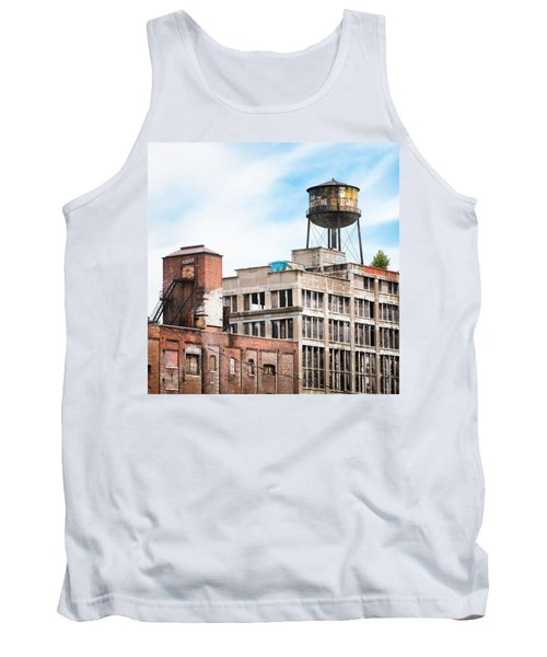 Tank Top featuring the photograph New York Water Towers 18 - Greenpoint Water Tower by Gary Heller