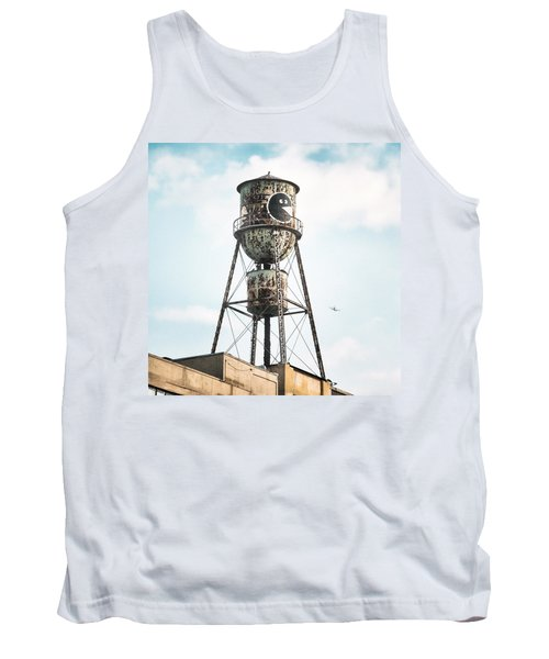 Tank Top featuring the photograph New York Water Towers 9 - Bed Stuy Brooklyn by Gary Heller