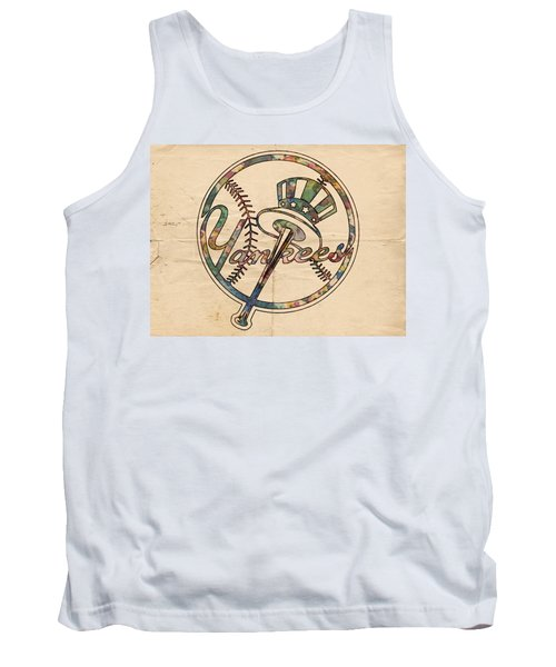 New York Yankees Poster Vintage Tank Top by Florian Rodarte