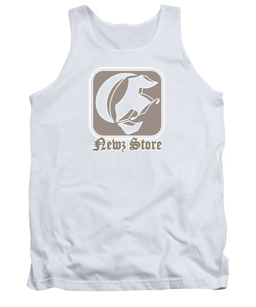 Tank Top featuring the drawing Eclipse Newspaper Store Logo by Dawn Sperry