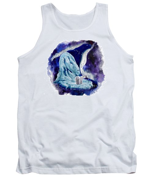 Tank Top featuring the painting Night Bear by Sherry Shipley
