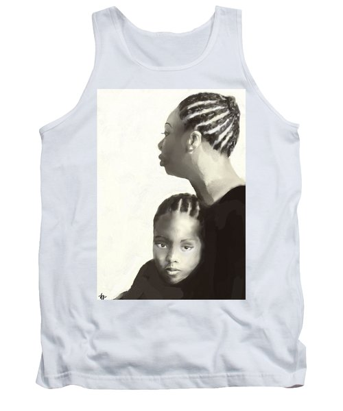 Tank Top featuring the drawing Nina And Lisa Simone by Vannetta Ferguson