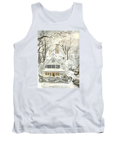 No Place Like Home For The Holidays Tank Top by Carol Wisniewski