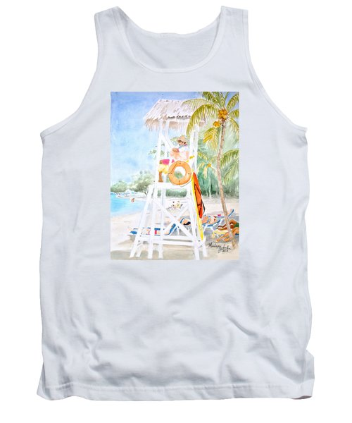 Tank Top featuring the painting No Problem In Jamaica Mon by Marilyn Zalatan