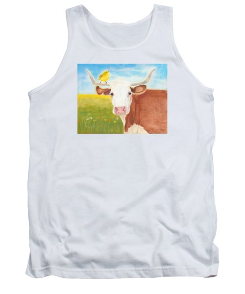 Tank Top featuring the painting No Tree Necessary by Arlene Crafton