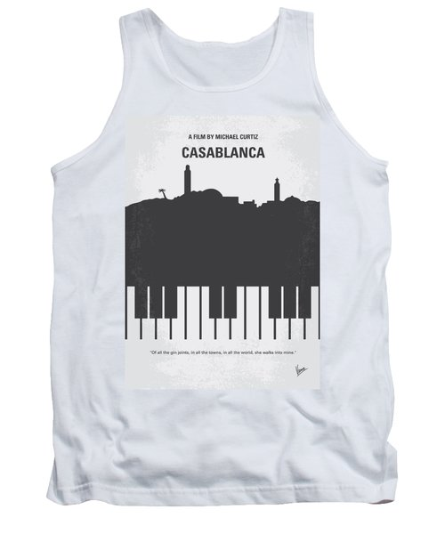 No192 My Casablanca Minimal Movie Poster Tank Top